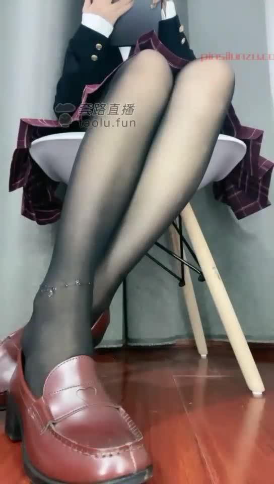 Uniform, dirty soles, black silk