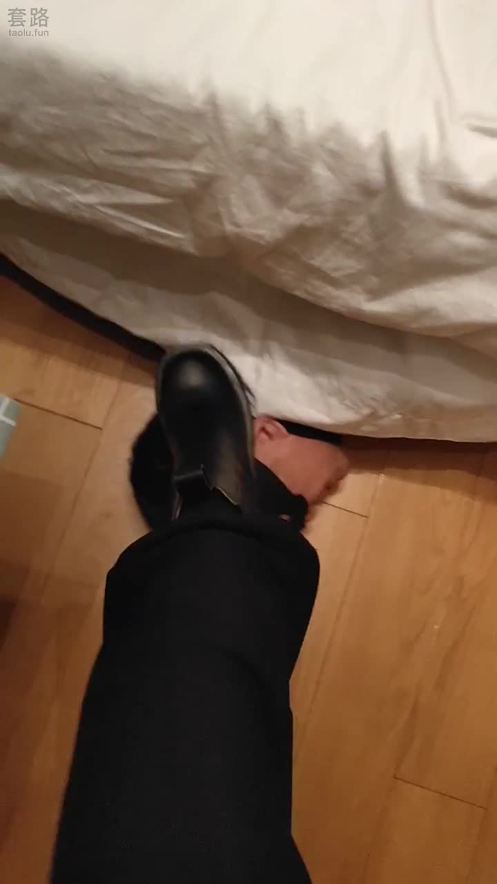 Original, amateur lady sister, worship leather boots and socks