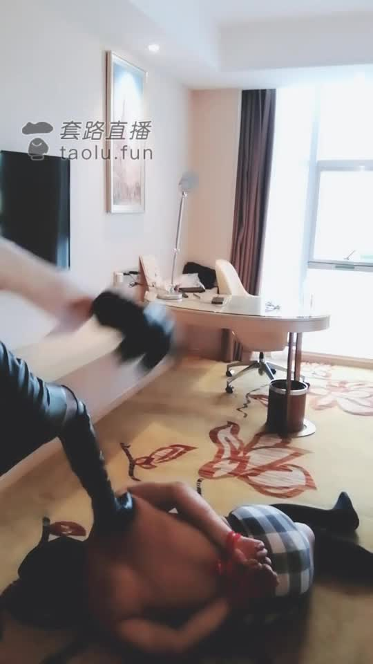 Boots, violently kicking the crotch, rubbing the dog's head