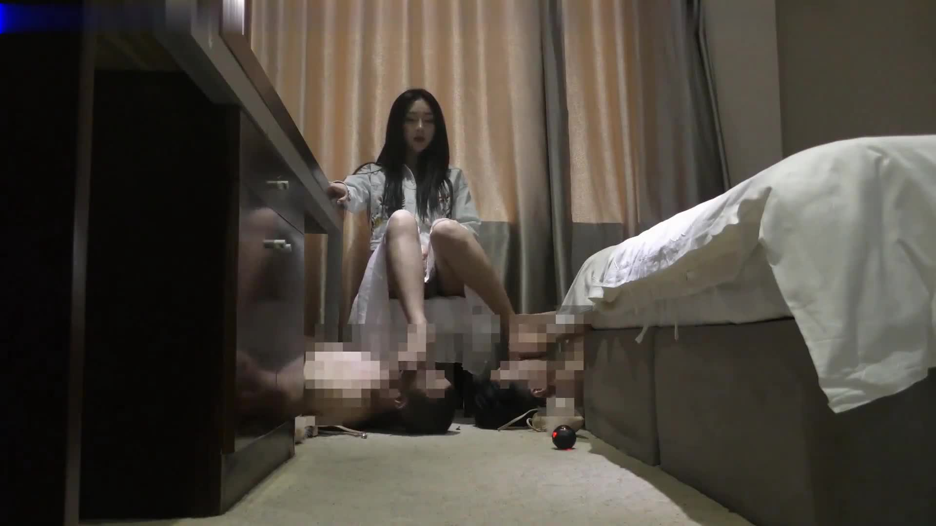 The exclusive foot slave of the student queen